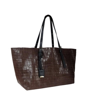 Linde Gallery St. Barths Faux Croc 'Camaruche' tote Bags