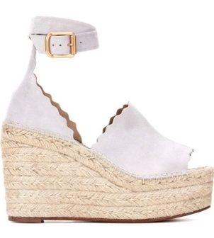 Chloé CHLOE ESPADRILLE ELEPHANT GREY (originally $660) Sale Shoes