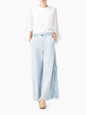 Chloé CHLOE TROUSERS STORM GREY Pants