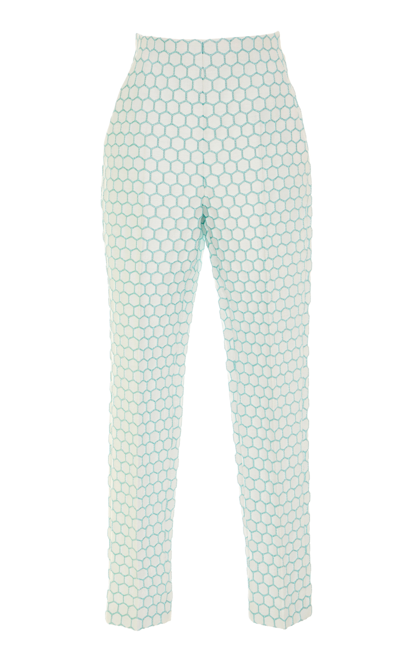 Delpozo Cigarette Pleated Trousers Pants