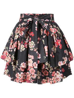 Jill Stuart Cotton Blossom Tiered Mini Skirt Skirts