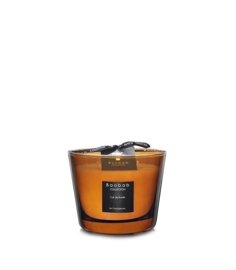 Baobab Cuir de Russie Candle Small Home decor