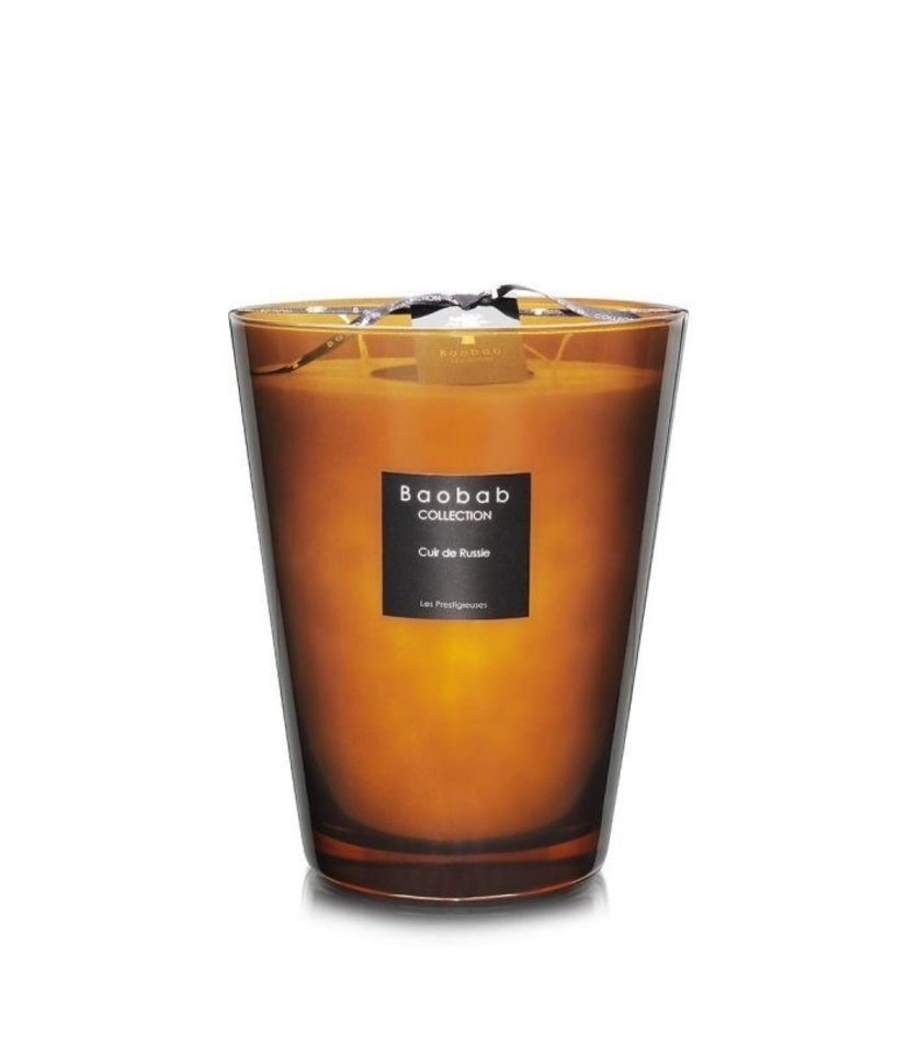 Baobab Cuir de Russie Candle Large Home decor