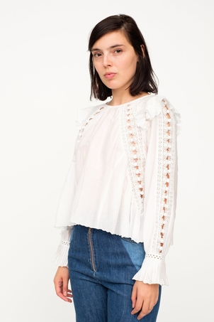 Sea Esther Pom Pom Blouse Tops