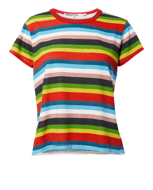 Pam & Gela Rainbow Stripe Tee Tops