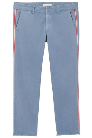 Nili Lotan East Hampton Pant with Tape in Washed Blue Pants