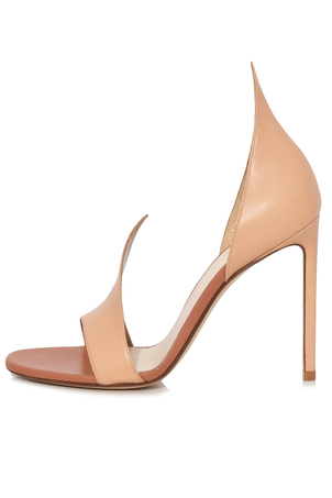 Francesco Russo Flame Sandal in Nude Shoes