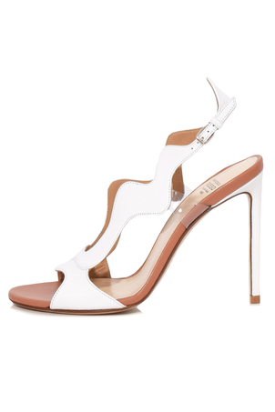 Francesco Russo Waves Sandal in White Shoes