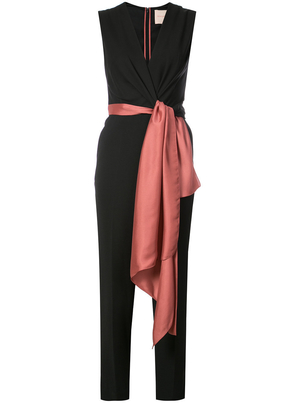 Roksanda Exclusive Black Jumpsuit with Sash