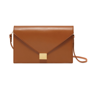 Victoria Beckham Cuoio Brown Envelope Clutch Accessories Bags