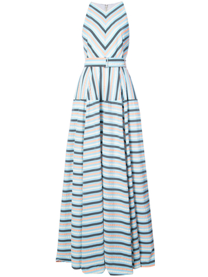 Lela Rose Exclusive Striped Maxi Dress Dresses