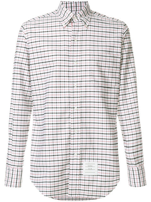 Thom Browne TARTAN OXFORD SHIRT Men's