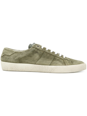 Saint Laurent Suede Low Top Sneaker Men's