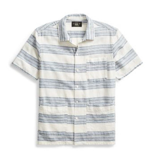 Ralph Lauren COTTON LINEN CAMP SHIRT Men's