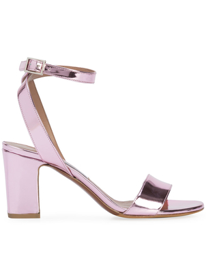 Tabitha Simmons Exclusive Pink Metallic Heels Shoes