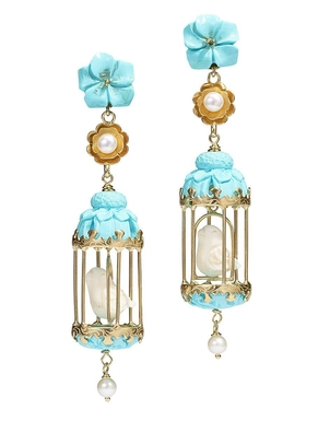 Of Rare Origin Aviary Classic Earrings - Turquoise/White Jewelry