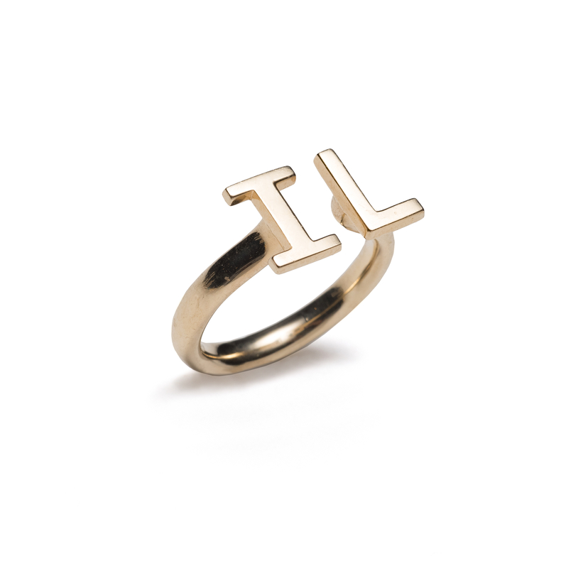 Ilyssa Londa Gold Initial Ring Jewelry