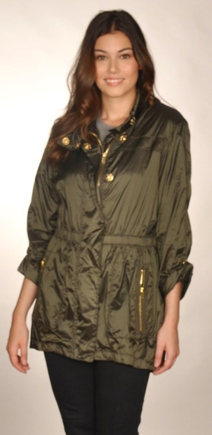 Ciao Milano Karla Jacket - Olive Outerwear