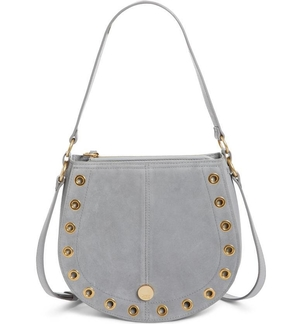 See by Chloé Kriss Leather & Suede Grommet Shoulder Bag Bags