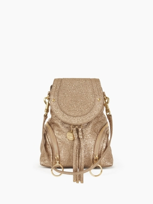 See by Chloé Small Olga Backpack - Gold Bags
