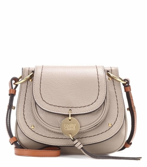 See by Chloé Susie Mini Leather Crossbody - Motty Grey Bags