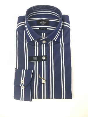 Hackett Hackett Nautical White Stripe Button Down Men's Tops
