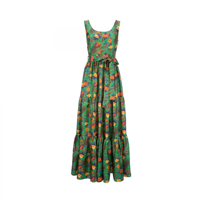 La Double J Sleeveless Pellicano Dress in Pavone Verde Dresses