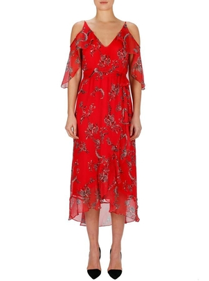 Luxe Deluxe Passion Flower Cold Shoulder Dress Dresses