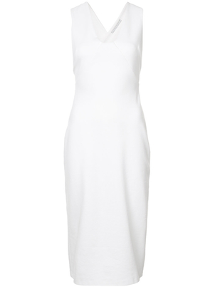 Rosetta Getty Fitted V Neck Dress Dresses