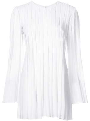 Rosetta Getty Pleated Flare Top Tops
