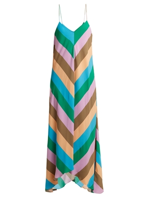 Tibi Julian Stripe Slip Dress Dresses