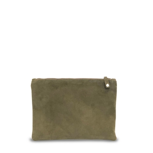 Ceri Hoover Waller Clutch in Truffle Suede Accessories Bags
