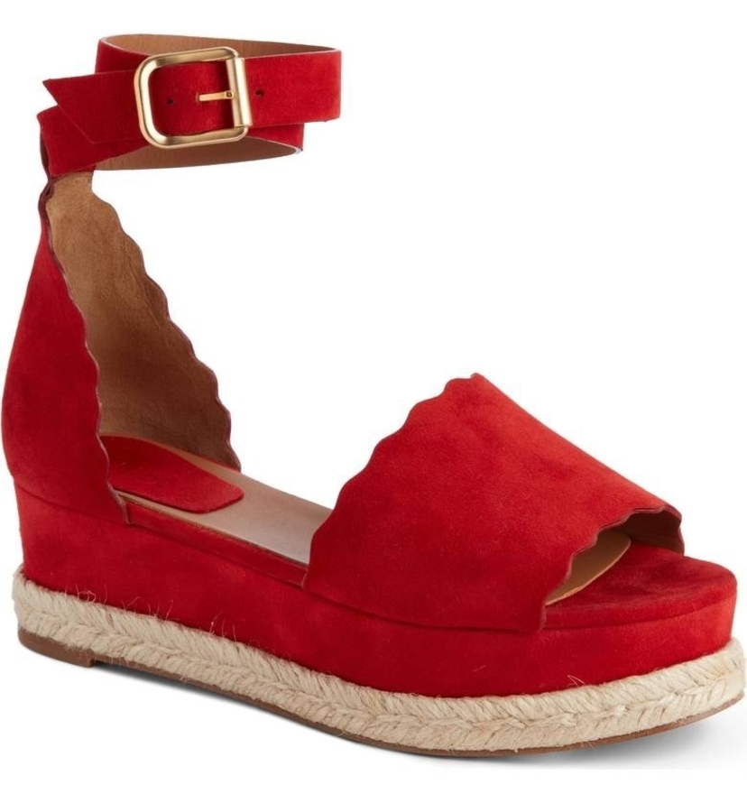 Chloé CHLOE ESPADRILLE RED FLAME Shoes