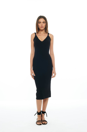 Dion Lee Black Twist Shoulder Dress Dresses