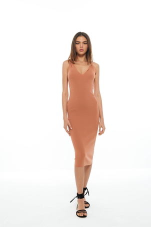 Dion Lee Clay Twist Shoulder Dress Dresses