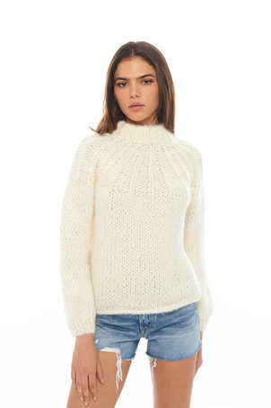 Ganni Ivory Bow Pullover (Was $440) Sale Tops