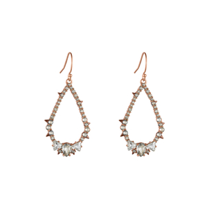 Alexis Bittar Crystal Encrusted Spiked Tear Earring Jewelry