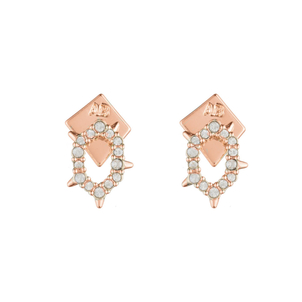 Alexis Bittar Crystal Encrusted Spiked Stud Earring Jewelry
