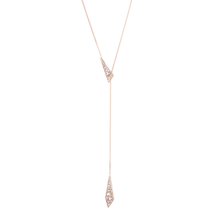 Alexis Bittar Crystal Encrusted Origami Lariat Necklace Jewelry