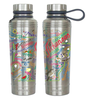 Arkansas Geography Thermal Bottle Gifts Home decor