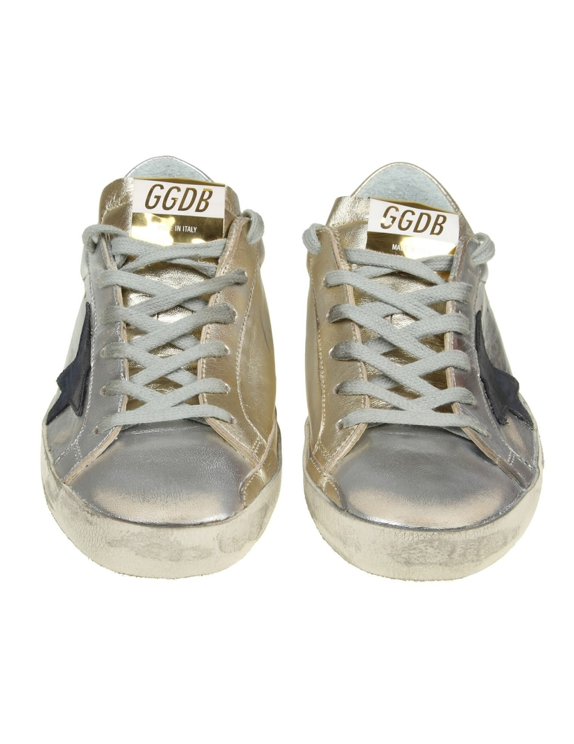 Golden Goose Deluxe Brand Superstar Sneakers - Gold/Silver Shoes