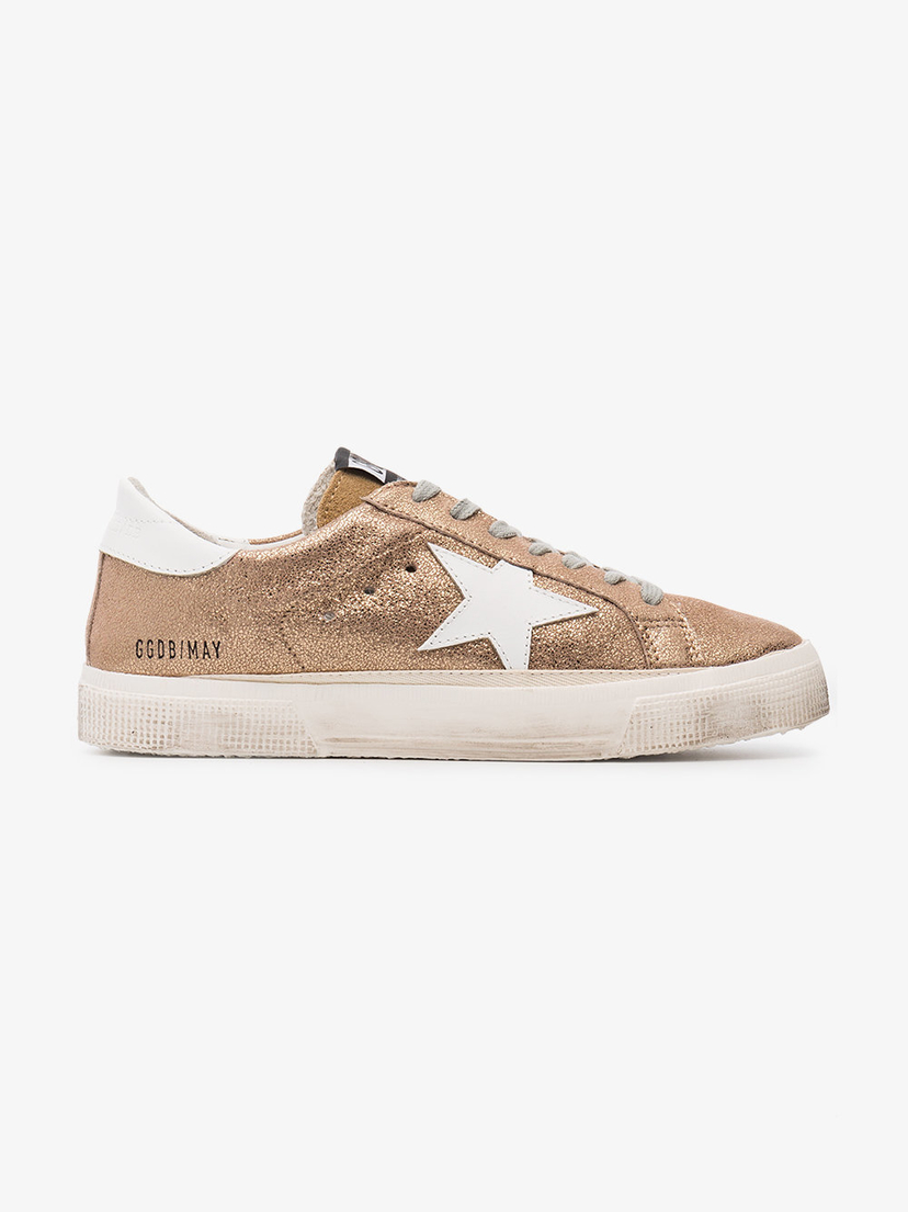Golden Goose Deluxe Brand May Sneaker - Bronze/White Shoes