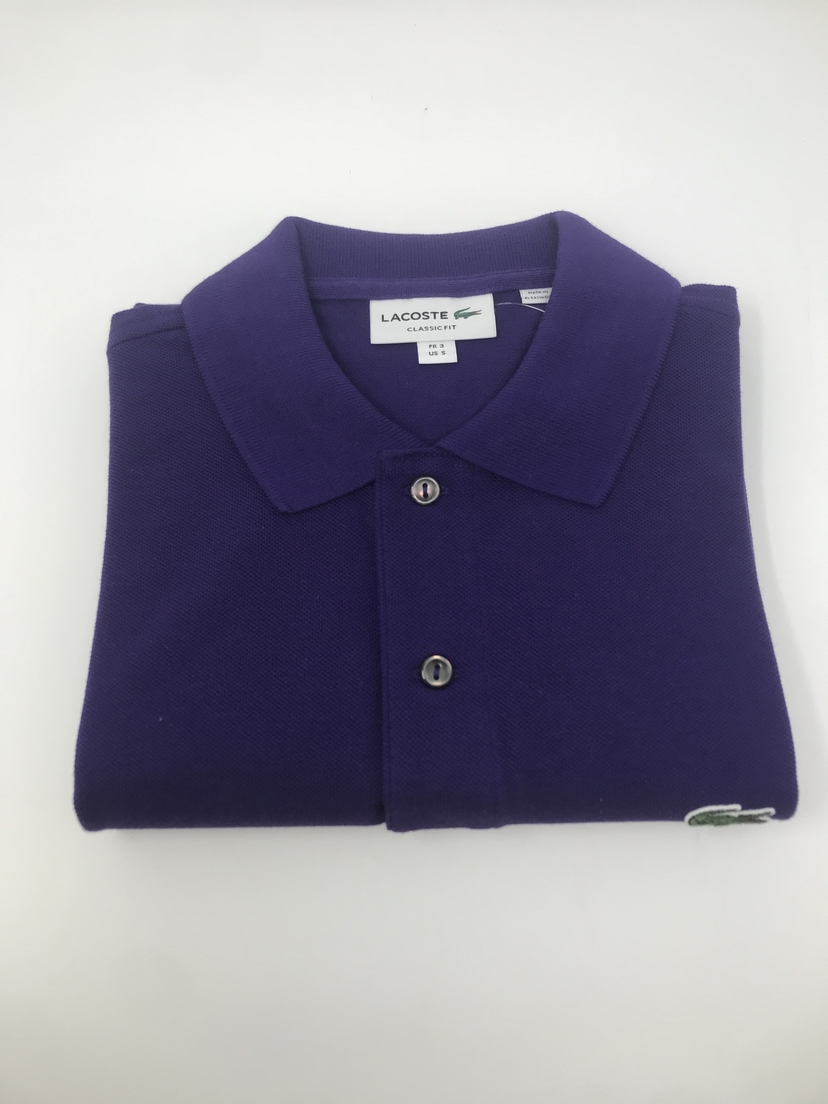 Lacoste Classic Fit Polo in Purple Tops