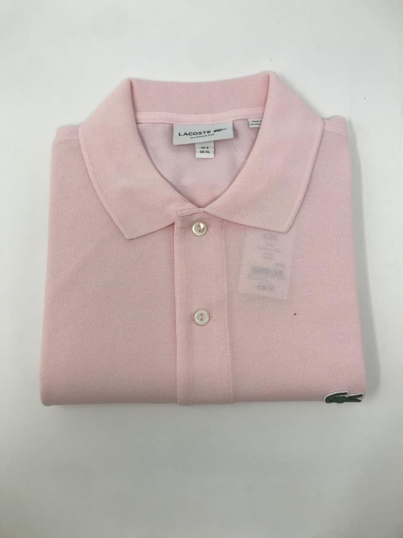 lacoste Classic Fit Polo in Pink Tops
