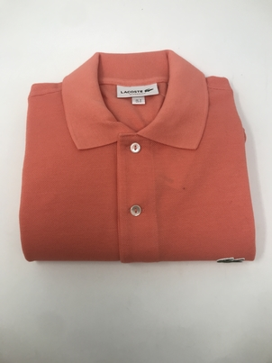 Lacoste Classic Fit Polo in Orange Tops