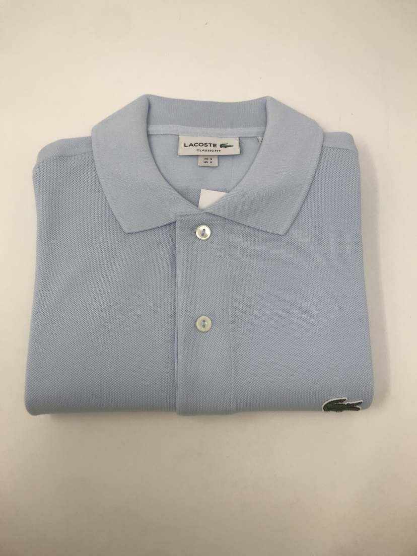 lacoste Classic Fit Polo in Baby Blue Tops