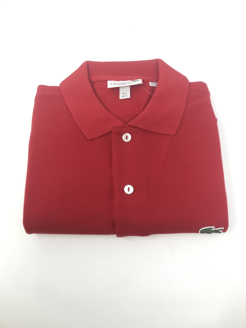 Lacoste Classic Fit Polo in Red Tops