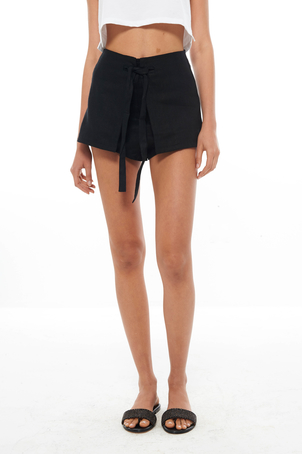 SIR Black Ines Tie Short