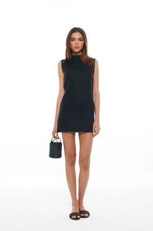 SIR Black Ines Mini Dress Dresses
