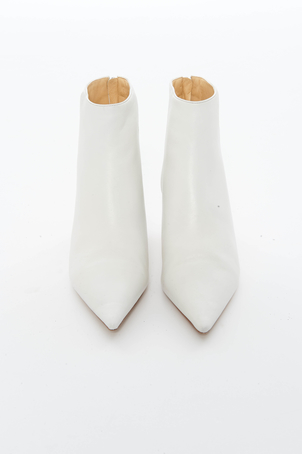 Alexandre Birman White Kittie Boots Shoes
